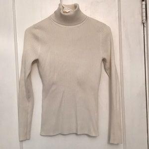 White Turtleneck Sweater Small